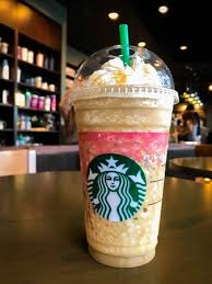 BANGKOK THAILAND MARCH 17 2018 Starbuck Caramel Frappuccino In Venti Size During