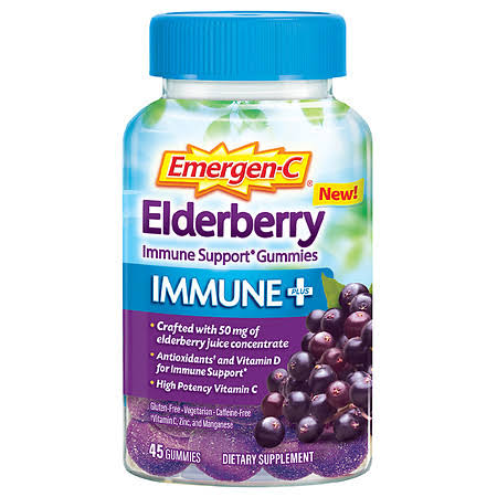 Emergen C Elderberry, Gummies - 45 gummies