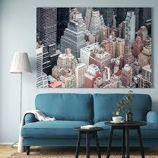 björksta gerahmtes bild new york oben schwarz ikea