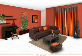 Flossy Living Room Color Scheme Ideas For Papaya Touch In