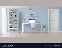 Home Interior Work Work Desk In Home Interior Realistic Royalty Free Vector