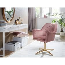 wohnling design drehstuhl rosa samt drehbar ohne rollen küchenstuhl mit armlehne bequemer schalenstuhl esszimmer esszimmerstuhl mit lehne