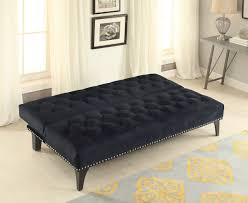 Tufted Velvet Sofa Furniture by Black Velvet Tufted Sofa Bed Futon Caravana Furniture
