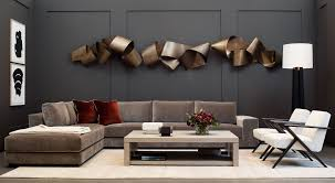 100 Modern Residential Interior Design HOLLY HUNT Modern Metal Wall Sculpture In Contemporary Living Room