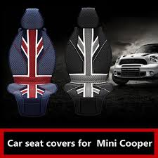 housse siege mini cooper luxury union uk flag 3d slik pvc car seat covers for bmw