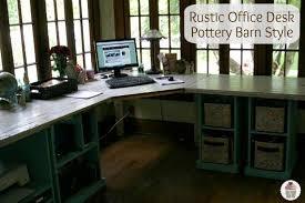 Rustic Office Desk DIY Project