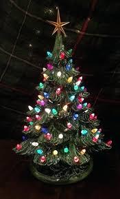 Ceramic Christmas Tree With Lights Retro