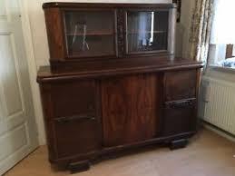 details zu antikes buffet massivholz eiche antik möbel schrank wohnzimmer mit glasteil
