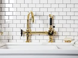 Unlacquered Brass Wall Mount Kitchen Faucet by Kitchen 28 428080 Pull Down Kitchen Faucet Polished Brass Front