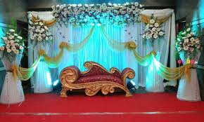 Beautiful Gerberas Drapes Stage Decor Pre Post Party Decoration