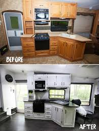 Image Of Images Travel Trailer Remodel Before And After