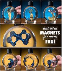 colorful ferrofluid magnetic liquid in bright colors