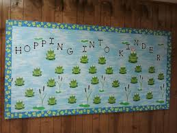Pumpkin Patch Bulletin Board Sayings welcome to kinder frog bulletin board bulletin boards