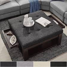 Amazon Coaster Storage Ottoman Coffee Table With Trays Brown