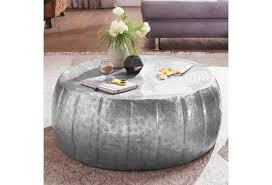 wohnling couchtisch jamal 72x31x72 cm aluminium silber beistelltisch orientalisch rund