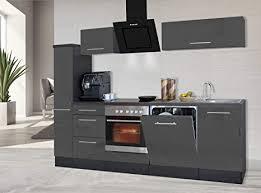 respekta küchenzeile küche küchenblock einbauküche hochglanz