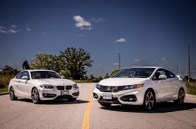 si e auto i size 2014 bmw 228i vs 2014 honda civic si coupe comparison cars