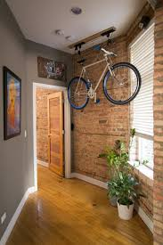 Ceiling Bike Rack Flat by Rachel U0026 Brian U0027s Spacious Place In Chicago Apartment Therapy