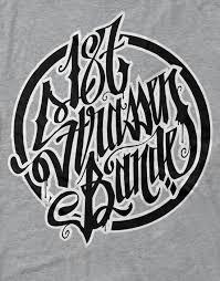 187 Strassenbande T Shirt Grey Black White Outlines Men – 187