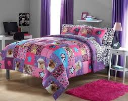 Adorable 3pc Girl Pink Purple Peace Sign Princess Leopard Puppy