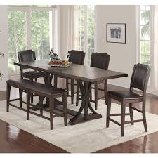 Montreal 6 Piece Counter Height Dining Set In Tobacco