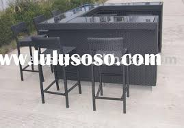 Outdoor rattan bar sets