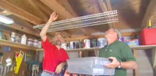 Installing Ceiling Joist Hangers by Installing Overhead Shelving In A Garage Or Workshop Today U0027s