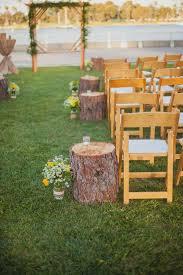 Tree Stumps Rustic Wedding Aisle Decor