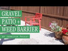 how to lay a garden patio how to make a gravel patio best underlayment for rock