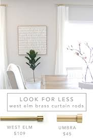 Pier One Curtain Rods by 12th And White My Favorite Inexpensive Brass Curtain Rods And