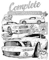 Free Mustang Coloring Pages To Print
