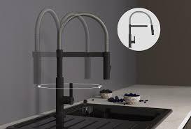 schütte küchenarmatur miami spiralfederarmatur mit ausziehbarer magnetischer geschirrbrause 360 schwenkbarer auslauf wasserhahn mischbatterie für