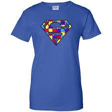 Autism Awareness Superman Logo Light Blue Shirt Hoo Tank