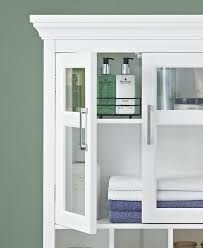 Bathroom Wall Storage Cabinets With Doors by Wall Cabinet For Bathroom Amazoncom Simpli Home Avington Two Door