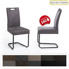 6x schwingstuhl kato griff gestell schwarz esszimmerstuhl küchenstuhl expendio
