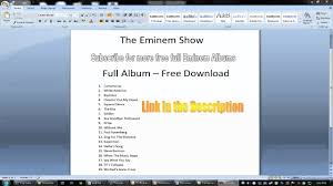 the eminem show full album download youtube