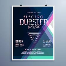 Electro Music Party Event Flyer Template
