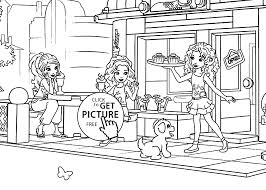 Lego For Girls Coloring Page Printable Free Friends