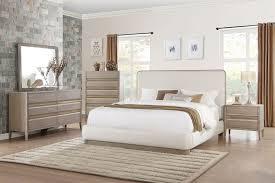 Platform Bedroom Set by Homelegance Aristide Upholstered Platform Bedroom Set Gold And
