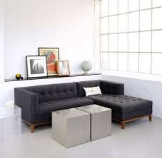 Gus Modern Atwood Sectional Sofa by Small Sectional Sofa With Chaise Lounge Apartment Size Modern And