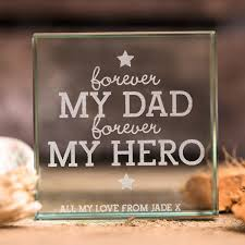 Personalised Forever My Dad Glass Token Card Factory