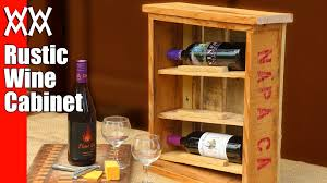 rustic wine cabinet pallet wood upcycling project easy and fun