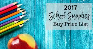 2017 supplies buy price list southern savers