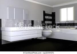 badezimmer modern stein schwarz granit weißes canstock