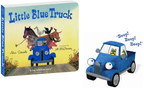 100 Little Trucks Blue Truck Toy 85 Hardcover Book With Plush Toy