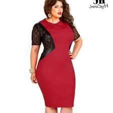 plus size red dress pluslook eu collection