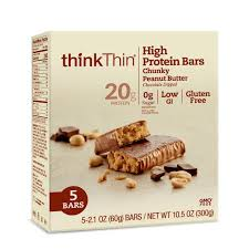 Amazon ThinkThin High Protein Bars Chunky Peanut Butter 21 Oz Bar 30 Count Health Personal Care