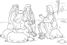 Sermont On The Mount Coloring Pages