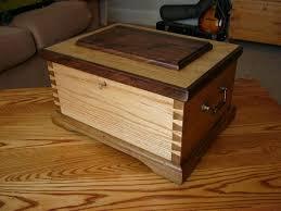 Oak And Walnut Stationery Box