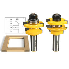 drillpro rb6 2pcs 1 2 inch shank finger joint router bit for